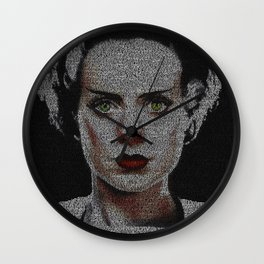 The Bride of Frankenstein Screenplay Print Wall Clock