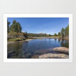 Tuolumne River and Meadows, No. 2 Art Print
