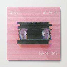 Video tape#VHS#REW<<#effect Metal Print