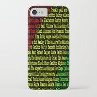 reggae iPhone & iPod Cases featuring Reggae Artist - Roll Call by The Peanut Line