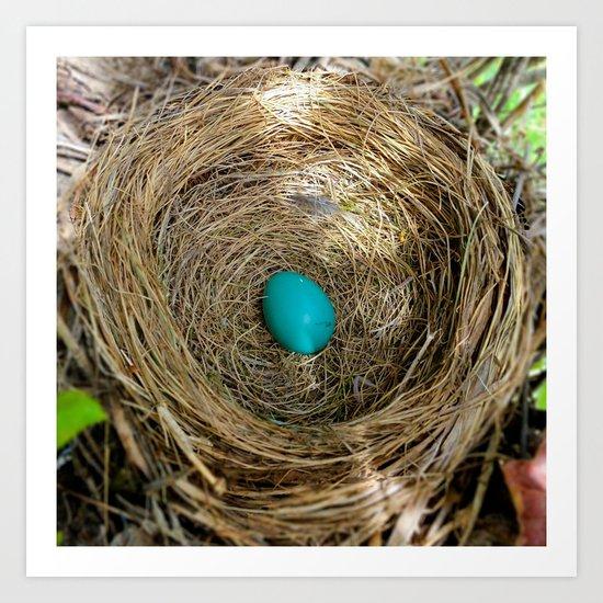 One Little Robin's Egg Art Print