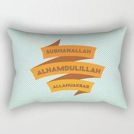 Subhanallah Alhamdulillah Allahuakbar Rectangular Pillow