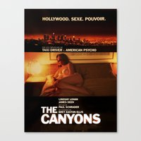 "lindsay lohan Canvas Prints featuring Lindsay Lohan ""The Canyons"" French Film Poster by Eric Terino"