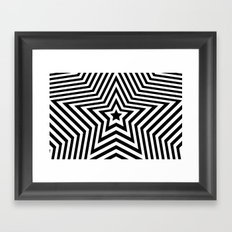 Stars - black & white vers. Framed Art Print