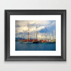 Waiting to sail Framed Art Print