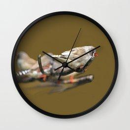 Waxbills Tropical Exotic Little Birds Perching Wall Clock