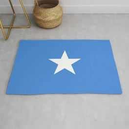 Somalian national flag - Authentic color and scale (high quality file) Rug