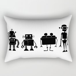 Four Robots Rectangular Pillow