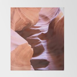 Antelope Colors Abstract Sandstone Waves Throw Blanket