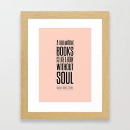 Lab No. 4 - Marcus Tullius Cicero Inspirational Quotes Poster Framed Art Print