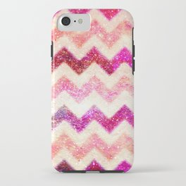 Glitter Pink Chevron - for iphone iPhone Case