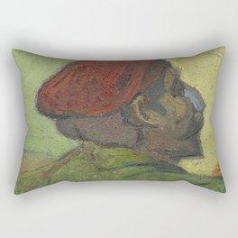 Paul Gauguin (Man in a Red Beret) Rectangular Pillow