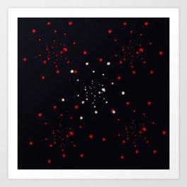 points rouges blancs  Art Print