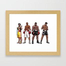 Boxing Champions Framed Art Print