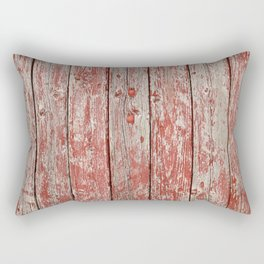 Rustic red wood Rectangular Pillow