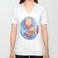 surf V-neck T-shirts featuring Surf! by DooDoo