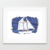 sailboat Framed Art Prints featuring Sailboat by Michael Moriarty Photography