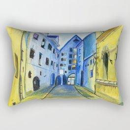 Town in Dusk Rectangular Pillow