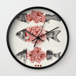 To Bloom Not Bleed  Wall Clock