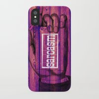 sarcasm iPhone & iPod Cases featuring Sarcasm by Li9z