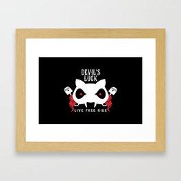 Devil's Luck Live to Ride Framed Art Print