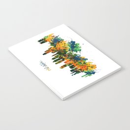 Philadelphia Watercolor Skyline Notebook