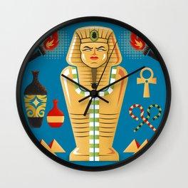 Egyptian Mummy Tomb Wall Clock