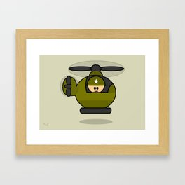 Little Soldiers Helicopter Military Art, Military Wall Art for Boys Room Nursery Decor Framed Art Print
