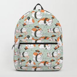 Kawaii Neko Sushi Backpack
