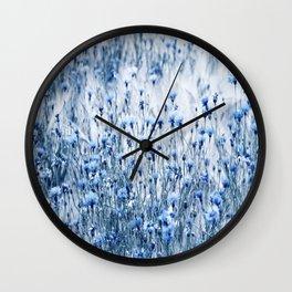 Cornflowers in summer time Wall Clock