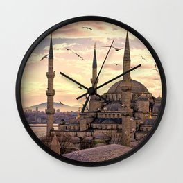 Sultan Ahmed Mosque Istanbul Turkey Ultra HD Wall Clock