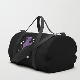 Pumpkin Cat // Black Duffle Bag