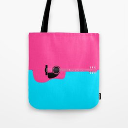 Pink Acoustic Guitar Background Tote Bag