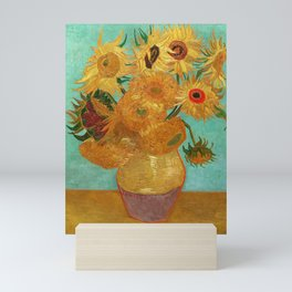 Vincent Van Gogh Twelve Sunflowers In A Vase Mini Art Print