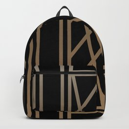 BLACK&GOLD 2 (abstract artdeco geometric) Backpack