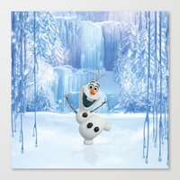olaf Canvas Prints featuring OLAF by Electra