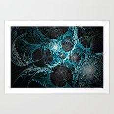 Turquoise Fractal Art Print