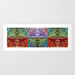 Abstraction Alteration x 6 - Abstract Painting - Bright Colorful Art Print