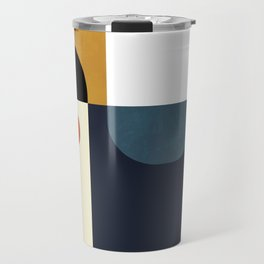 mid century abstract shapes fall winter 4 Travel Mug