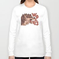 wolves Long Sleeve T-shirts featuring Wolves by Lindsey Lea
