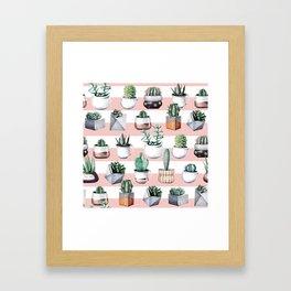 Cactus Pattern 02 Framed Art Print