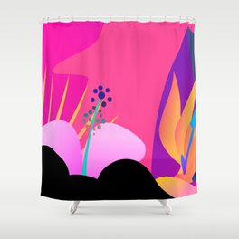 Hot Tropical Colors With Bird Of Paradise Shower Curtain