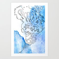 Aqua's Breath Art Print