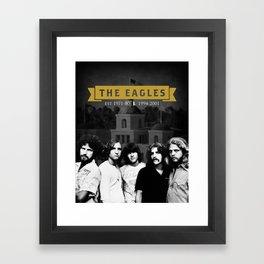 The Eagles Rock Band Hotel Califonia Framed Art Print