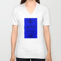 juventus V-neck T-shirts featuring World Cup Edition - Paul Pogba / France by Milan Vuckovic