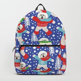 Bichon Frise Christmas fun Backpack