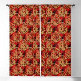 Abstracty pattern in red and brown tones. Blackout Curtain