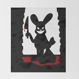 Bloody Bunny Throw Blanket