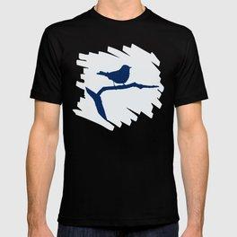 Blue Silhouette Bird T-shirt