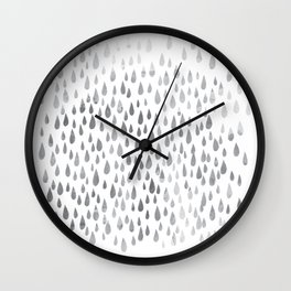 Pluviophile Rain Love Wall Clock